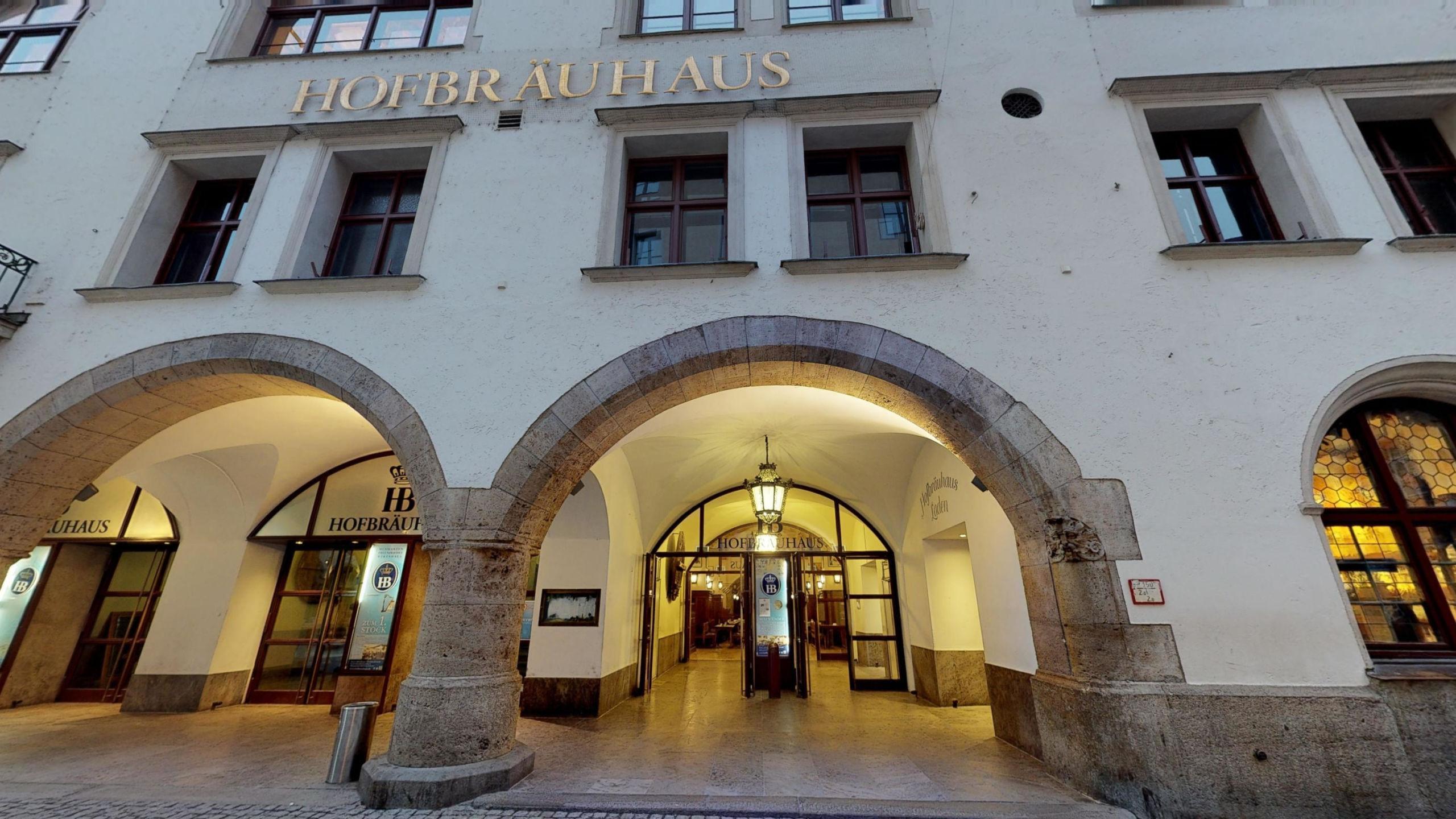 HOFBRÄUHAUS MUNICH ENTRANCE | GOOGLE STREET VIEW | VIRTUAL TOUR
