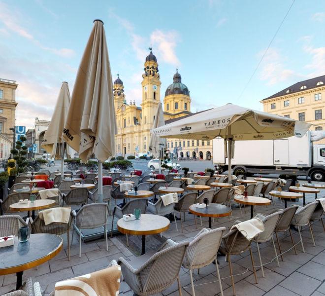 Outside View Virtual Tour Tambosi Munich certified by Google Street View