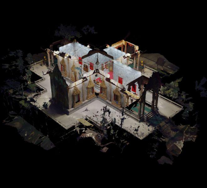 Wat Chalong Pagoda digital Dollhouse View 3D Model | 360INT