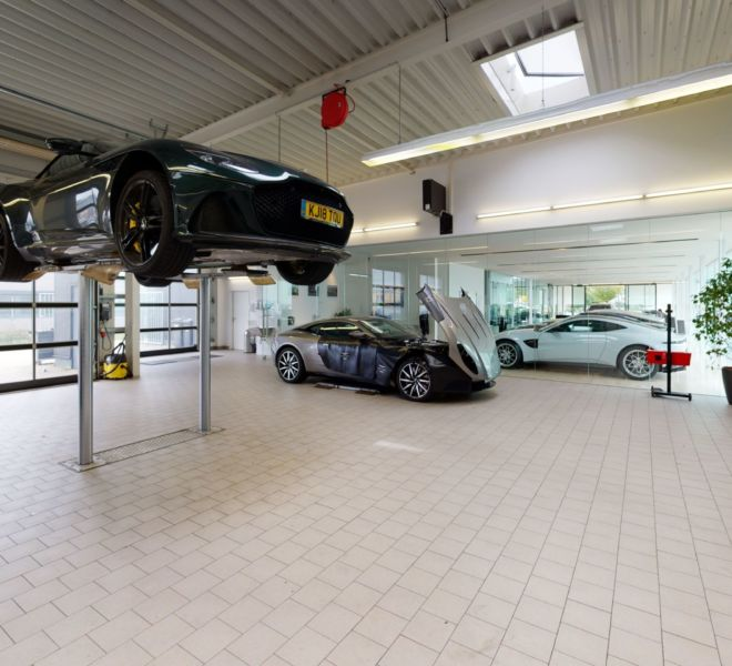Aston Martin Garage 3D Tour Google Street view | 360INT