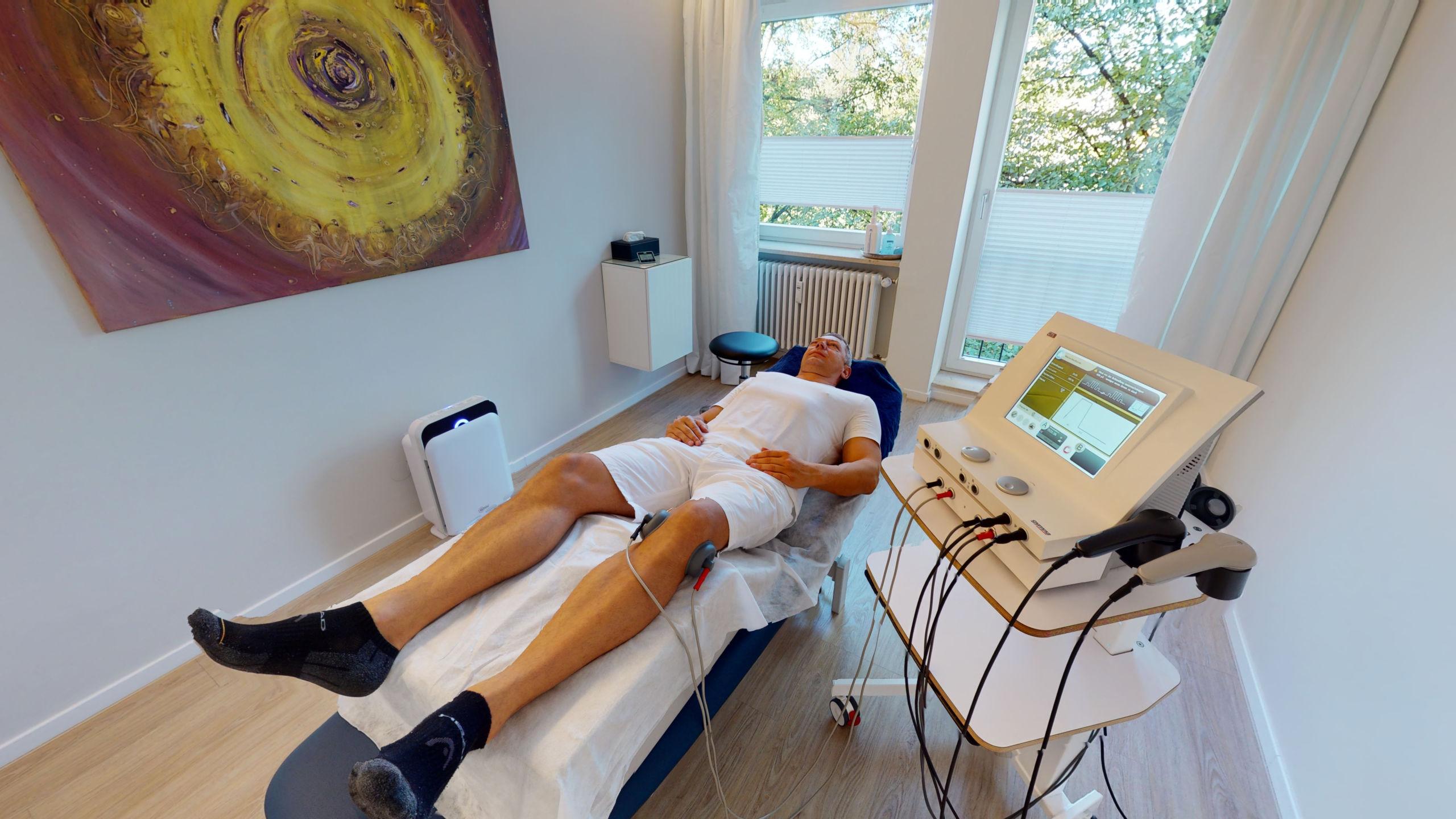 Christian Aigner im 3D Rundgang für Physiotherapie Praxen