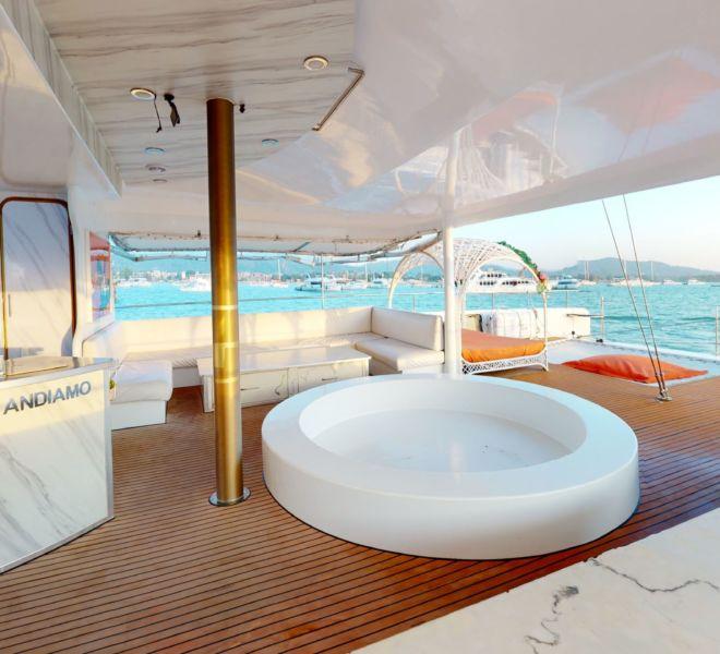 Andiamo Catamaran Phuket Virtual Tour | Inside| 360INT